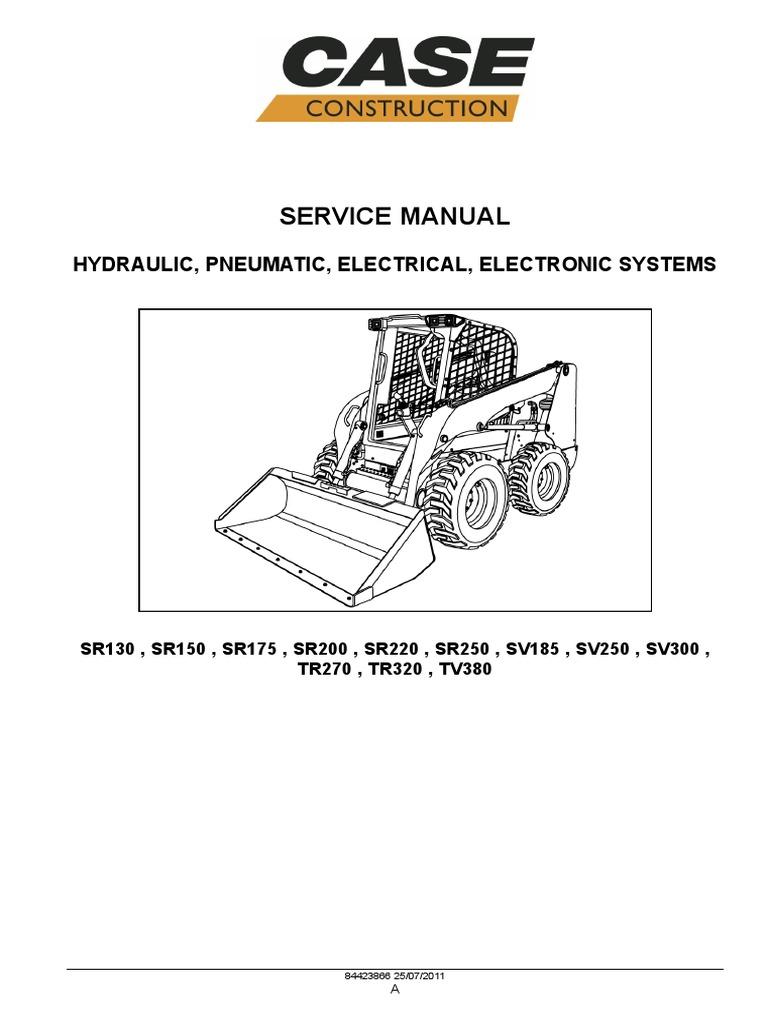 Case Skid Steer Loader Service Manual Pgs 29-987 | Pump | Valve