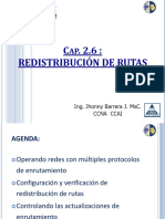 UPS Redes II Cap 2.6 Redistribución de Rutas