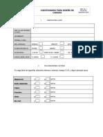 Formato Cuestionario Para Diseño de Cargos