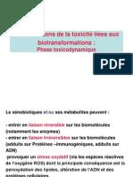 Manifestations de la toxicité liées aux biotransformations- Mouabad 2010-2011