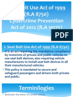 Seat Belt Use Act of 1999 (R