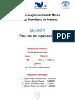 Unidad 5 Finanzas en organizaciones