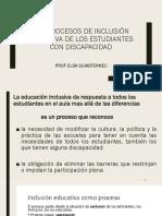 Resumen Clase Guiastrennec Los Procesos de Inclusion Educativa