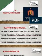 Diapositivo Missa Sagrada Família
