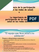 Participación de la comunidad en redes de salud
