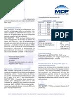 Mdf Disper Thin Boletín Técnico Español
