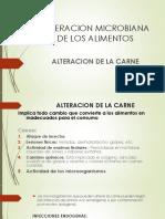 Alteracion Microbiana de Carnicos