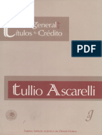 Teoria General de Los Titulos de Crédito (Ascarelli)