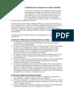 Protocolo Proyecto Dinámica Bloque en Plano Inclinado