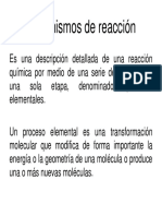 Clase 17 Cinetica Mecanismos de Reaccion y Catalisis