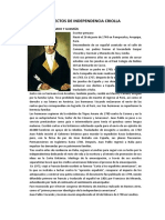 Proyectos de Independencia Criolla