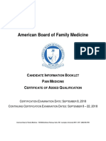 2018 Candidate Information Booklet Pain Medicine
