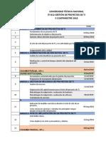 ITI-812 GPTI Cronogramas