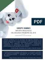 Grupo Bimbo Reporta Resultados Del 2T18