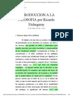Introduccion a La Filosofia Por Ricardo Etchegaray _ Trabajos de Filosofia