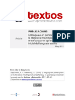 El Lenguaje en Primer Plano en La Literatura Infantil (Sepúlveda & Tebersoky, 2011)