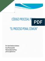 Código Procesal Penal El Proceso Penal Común