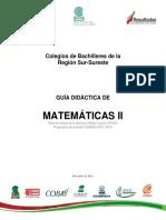 Guía Didáctica de Matemáticas II Sur Sureste
