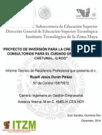 Proyecto de Inversión Para Consultorio Salud