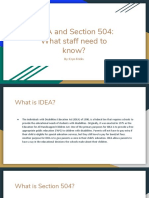 frickse idea and section 504