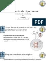 Exposicion Tratamiento Hipertensión Arterial Sistémica Cardiologia II