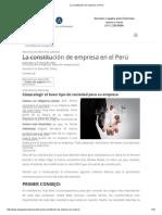 La Constitución de Empresa en Perú
