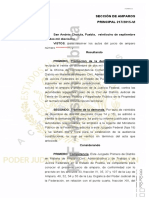 AMPARO INDIRECTO 2518-2017. Sentencia Definitiva