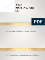 Ways of Promoting Art Work