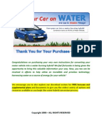 Run car on water