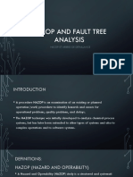 HAZOP and Fault Tree Analysis