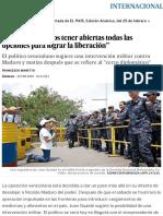 """Guaidó_ """"Debemos Tener Abiertas Todas Las Opciones Para Lograr La Liberación"""" _ Internacional _ EL PAÍS"""