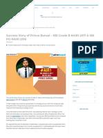 Success Story of Prince Bansal - AIR1 RBI Grade B 2017 & SBI PO 2016