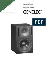 GENELEC 1030A Operating Manual