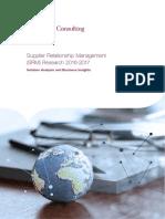 Supplier Relationship Management (SRM) Research 2016-2017
