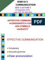 SKBE1013 LECTURE 2 Consonants 19 September 2016