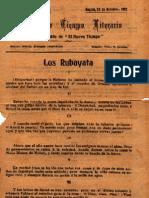 Khayyam Omar - Los Rubayata