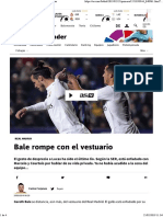 Real Madrid_ Bale Rompe Con El Vestuario - As