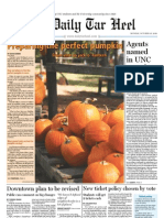 The Daily Tar Heel for October 25, 2010