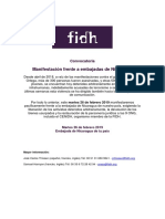 Invitación Movilización Nicaragua