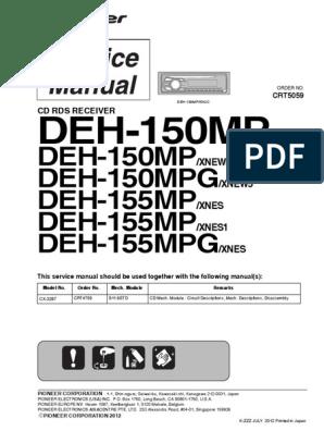 [ZTBE_9966]  DEH-150MP: DEH-150MP DEH-150MPG DEH-155MP DEH-155MP DEH-155MPG | Laser |  Hertz | Wiring Diagram Pioneer Deh 815 |  | Scribd