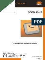 Bedienungsanleitung Sterungsgerät BA45H2