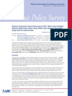 NABE Economic Policy Survey February 2019