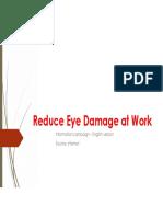 Reduce Eye Damage at Workm