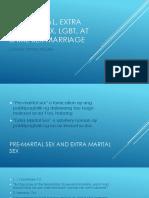 Pre-marital, Extra Marital Sex, LGBT,