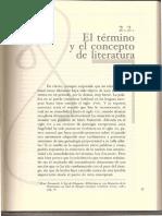 El término y concepto de literatura