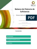Balance de Potencia de Suficiencia DS62 - Primera Aplicaci¢n