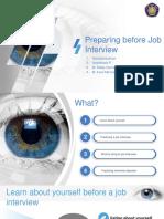 Preparing Before Job Interview