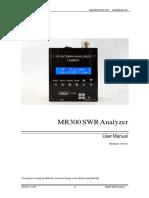 MR300 SWR Analyzer User Manual