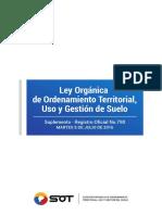 Ley Orgánica de Ordenamiento Territorial, Uso y Gestión de Suelo