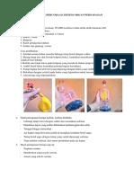 Petunjuk Percobaan Sistem Organ Pernapasan